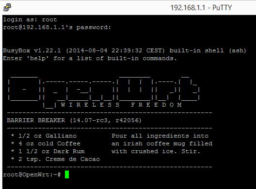 Openwrt command line