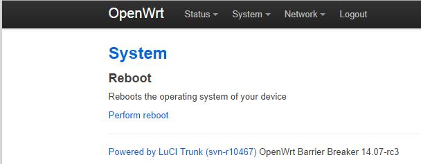 Reboot device