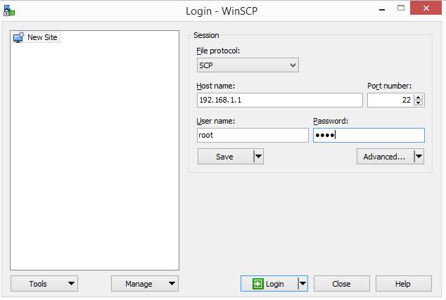 WinSCP site