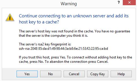 Accept server key