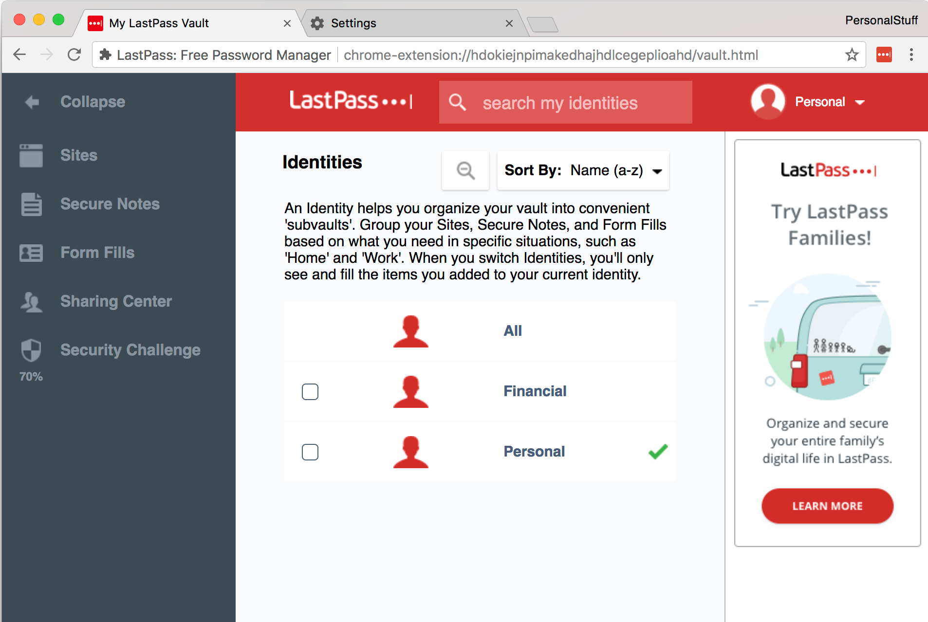 LastPass Identities + Browser profiles = Awesomeness